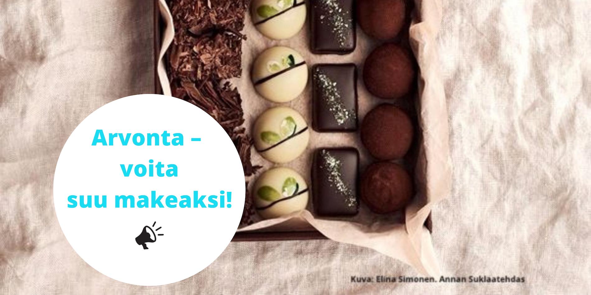 Osta verkkokurssi - voita suklaarasia!